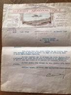 L.Blériot Aéronautique Document Facture De 1925 - Documents Historiques