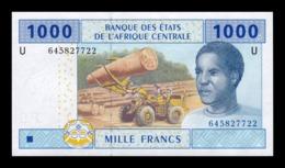 Estados Africa Central Central African St. Camerun 1000 Francs 2002 (2018) Pick 207Ud Second Sign Hybrid Substrate SC UN - Camerún