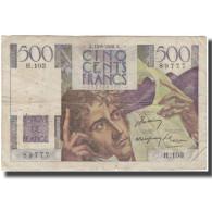 France, 500 Francs, Chateaubriand, 1948-05-13, TB, Fayette:34.8, KM:129b - 1871-1952 Gedurende De XXste In Omloop