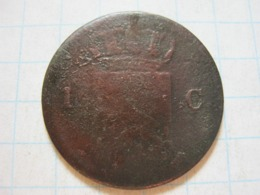 1 Cent 1823 - 1815-1840 : Willem I