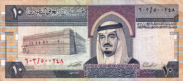 "SAUDI ARABIA 10 RIYALS 1983 F P-23d ""free Shipping Via Regular Air Mail (buyer Risk)"" - Saoedi-Arabië"