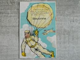 CARTE A SYSTEME PARACHUTISTE SUR BAYONNE - Bayonne