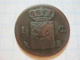 1 Cent 1827 B - 1815-1840 : Willem I