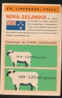 """PORTUGAL --Propagande Anti Allemande ,anti Nazie (39-45) -""""Em Liberado ---Força ! - Nova Zelandia - Guerre 1939-45"""