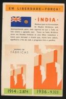 """PORTUGAL --Propagande Anti Allemande ,anti Nazie (39-45) -""""Em Liberado ---Força ! - INDIA - Guerre 1939-45"""