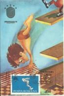 Carte Maximum - Roumanie - Plongeon - Universiada81 - Kunst- Und Turmspringen
