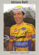 CARTE CYCLISME ADRIANO BAFFI SIGNEE TEAM MERCATONE UNO 1994 - Cyclisme