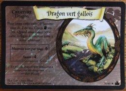 TRADING CARD GAME - Harry Potter - Aventures à Poudlard - N° 30 / 80 - Dragon Vert Gallois - Rare Brillante - Harry Potter