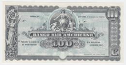 Ecuador 100 Sucres 1920 UNC NEUF Remainder Pick S254 - Ecuador