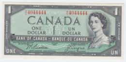 Canada 1 Dollar 1954 QEII UNC NEUF Pick 74a 74 A (nice Serial) - Canada