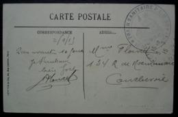 1915 Train Sanitaire P.L.M 30 Sur CPA D'Amiens - Marcophilie (Lettres)