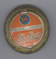Boite Réglisse à La Violette - Poulain - Blois - Diamètre 70 Mm - Bon état - Rare - Boxes