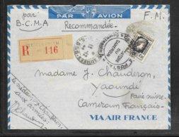 LOT 1910009 - N° 644 SUR LETTRE RECOMMANDEE DE LA POSTE AUX ARMEES DU 13/12/44 POUR YAOUNDE (CAMEROUN ) - Marcophilie (Lettres)