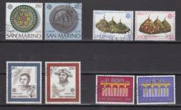 Europa Cept San Marino 4 Years (8v) Used (cto) (44899) - Zonder Classificatie
