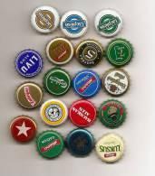 Russia Latvia 18 Diff BEER BOTTLE KRONKORKEN CAPS Lot- 1 - 2013 - Bier