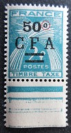 France Réunion Taxe 37 ( C.F.A.) Variétés & Curiosités C De Centime Fermé . Neuf ** - Curiosités: 1945-49 Neufs
