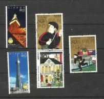 Japon N°5411 à 5415 Cote 4.80 Euros - 1989-... Emperador Akihito (Era Heisei)