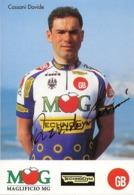CARTE CYCLISME DAVIDE CASSANI SIGNEE TEAM MK TECHNOGYM 1994 - Cyclisme