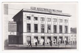 Pologne Polska Warszawa 1955 Klub Miedzynarodowej Prasy Caly Narod Buduje Swoja Stolice VOIR DOS Timbre - Polonia