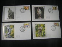 """BELG.1997 2721 2722 2723 & 2724 FDC's Soie/zijde (Deurne) : """"Ambachten/Métiers Artisanaux"""" - 1991-00"""