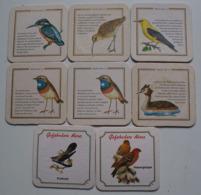 Vögel Birds Oiseaux Bierdeckel 6 X Licher 2 X Braunfelser - Beer Mats