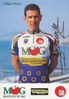 CARTE CYCLISME MARCO SALIGARI SIGNEE TEAM MK TECHNOGYM 1994 - Cyclisme