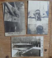 """Koekelare/Koekelaere/Couckelaere-Lot De 3 Photos Cartes-Canon Lange-Max """"Langer"""" - Canons Allemand - Prise Le 03.11.1918 - Koekelare"""