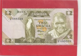 BANK OF ZAMBIA . TWO KWACHA . 87/B . N° 088529 . 2 SCANES - Zambie
