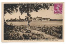 Cpa 35 Paimpont - L'étang Et L'abbaye - Cet Abbaye Fut Fondée Vers 630 Par St-Judicaël Roi De Bretagne... - Paimpont