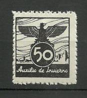 AUXILIO DE INVIERNO ESPAÑA ** - Spanish Civil War Labels