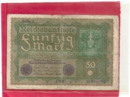 REICHBANKNOTE . 50 MARK . 24-6-1919 . N°  988055 . ZWEI SCANES - 50 Mark