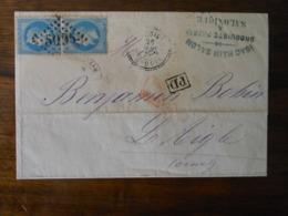 Lettre GC Salonique 5095 - 1849-1876: Période Classique