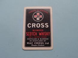 CROSS Blended Scotch Whisky ( Klaveren 4 ) ( Details - Zie Foto's Voor En Achter ) ! - Playing Cards (classic)