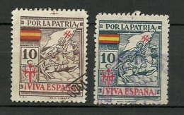 SANTIAGO APOSTOL POR LA PATRIA - Verschlussmarken Bürgerkrieg