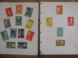 Jeux Olympiques JO Sport - Tabac Cigarettes VISA Olympic Games - 17 étiquettes Boites D'allumettes Safety Matches - Cajas De Cerillas - Etiquetas