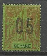 GUYANE N° 68A NEUF* TRACE DE CHARNIERE / MH - Nuovi