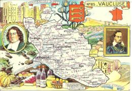 CARTE GEOGRAPHIQUE - Département Du VAUCLUSE - Par PINCHON - Landkarten