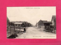 62 Pas De Calais, Beugny, Rue De La Gare, Animée, 1929, (R. Lelong, Vve Mayeux) - Sonstige Gemeinden