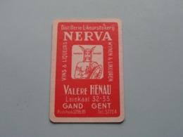 Distillerie-Likeurstokerij NERVA / Valère HENAU Gand Gent ( Schoppen 10 ) ( Details - Zie Foto's Voor En Achter ) ! - Speelkaarten