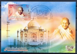2019 - Maximum Card 150 Th Birth Anniversary Of Mahatma Gandhi Stamp Sheet - Iran - Mahatma Gandhi