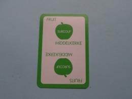 Fruit SURCOUF Middelkerke ( Klaveren 4 ) ( Details - Zie Foto's Voor En Achter ) ! - Speelkaarten