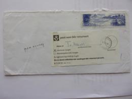 Norvège Lyon Bureau D'échange D'Oslo Returarsak Mangler Retour à L'envoyeur  La Brenne 1995 - Noorwegen