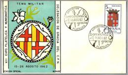 Exposicion Filatelica TEMA MILITAR - Espada - Sword. Barcelona 1962 - Militares