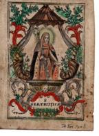 Image Pieuse S.Gertrudis (parchemin) - Images Religieuses