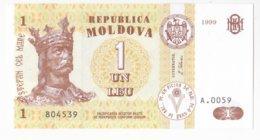 Moldova   Moldavie 1 Leu , 1999 ,  UNC - Moldova