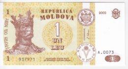Moldova   Moldavie , 1 Leu , 2002 ,  UNC - Moldova