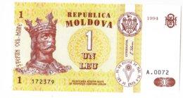 Moldova   Moldavie , 1 Leu , 1994 ,  UNC - Moldawien (Moldau)