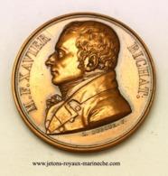 Xavier Bichat. Galerie Métallique Des Grands Hommes Français. N° 13n  Graveur. L. Dubourg.  1826.  Poinçon Bronze. - Monarchia / Nobiltà