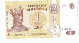Moldova   Moldavie , 1 Leu , 1999 ,  UNC - Moldova