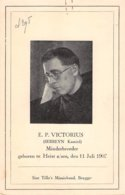 E.P Victorius Serreyn Kamiel Minderbroeder - Heist -  Belg Congo - Sint Tillo's Missiebond Brugge - Heist